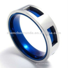 2012 latest IP blue color stainless steel ring