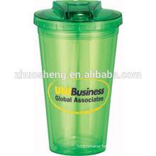 32OZ BPA FREE DOUBLE WALL PLASTIC