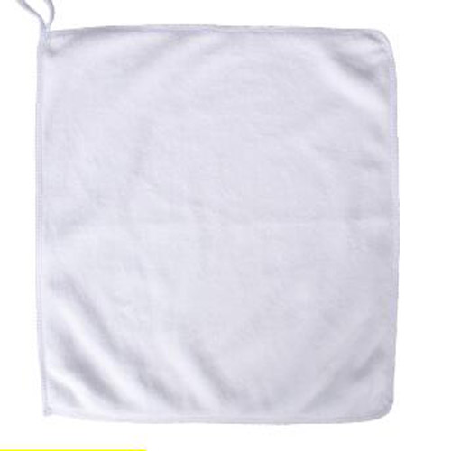 Weißes Microfiber Square Face Handtuch