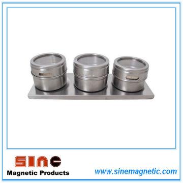 Creative Magnetic Visual Three Seasoning Pot/Spice Jar