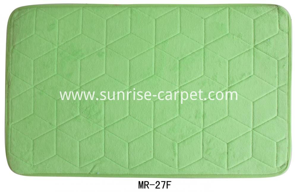 Polyester Flannel Carpet Rug Doormat Green