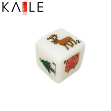 16mm Christmas Edition Funny Color Side Dice