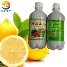Fertilizante orgánico de extractos vegetales para plantas foliares