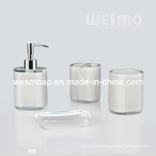 Transparent Polyresin Bathroom Set/Bath Accessory