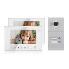 Metal 800TVL Doorbell Video Door Phone for 2 Apartments