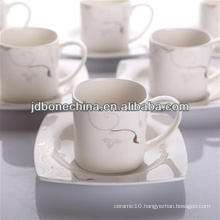 PS AD vintage style ceramic porcelain crockery coffee tea mug with lid set cup stock lot