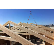 Customized Glulam wood frame truss for prefab house