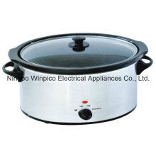 Медленный плита 330watts - 6,5 Л (7,4 QT), овальной формы керамические внутренний горшок