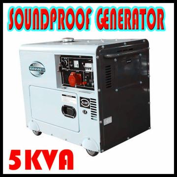 5kw 5kVA diesel gerador portátil silencioso mini gerador