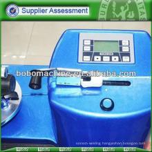 Hydraulic feeder for prestressing strand