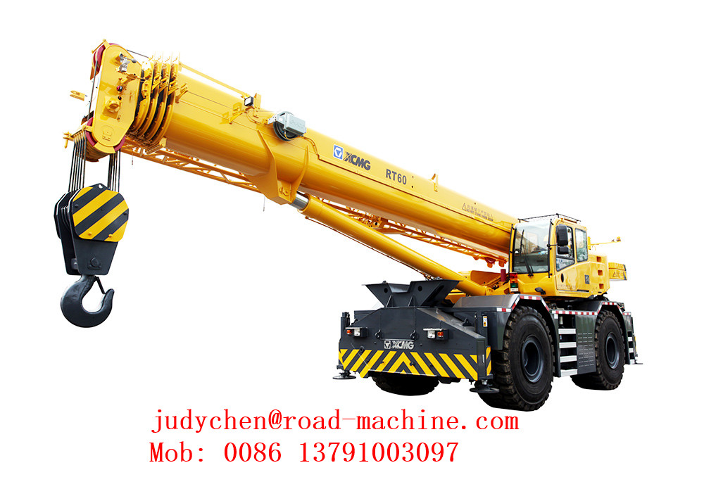 60 Ton All Wheel Drive Strong Rough Terrain Tractor Crane