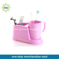 Plastic Toothbrush Cup With Holder