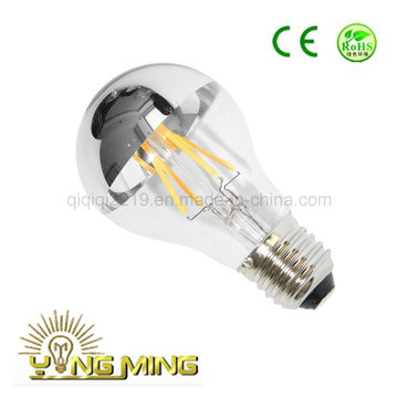 COB A60 Silver Mirror LED Light Bulb with CE RoHS Approval