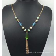 Bunte Perlen Perlen Pullover Halskette (XJW13762)