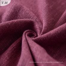 Viscose Linen Polyester Blend Dobby Sofa Tissu d'ameublement