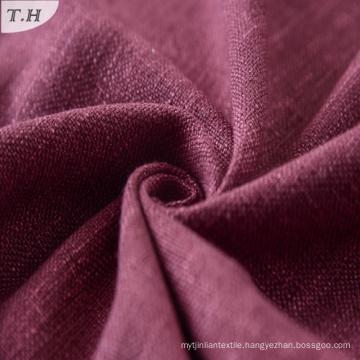 Viscose Linen Polyester Blend Dobby Sofa Upholstery Fabric