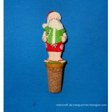 Lustiger Sankt-Flaschen-Stopper für Weihnachtsdekoration