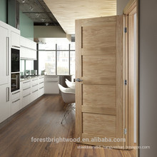 Factory painted red oak veneered kitchen room shaker door, solid wood shaker door.