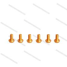 Parafusos de soquete anodizados cor de alumínio do parafuso M3 de Cotstomized para zangões / Helicoper
