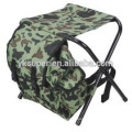 Bancos pequenos dobráveis para móveis de camping com sacos refrigeradores