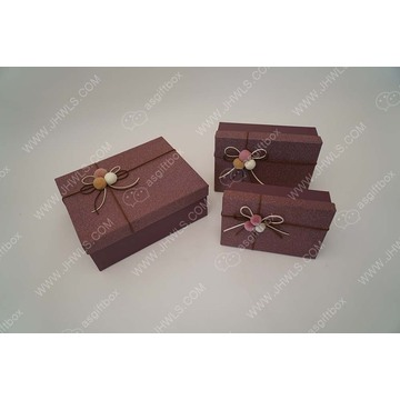 Upscale Custom Bowknot clothing packing box