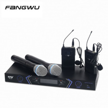 Top Quality Dual Mic 2 Channels Handheld Wireless Microphone For Teaching
