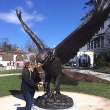 Большой размер бронзовая статуя Орел