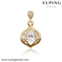 31373-14k gold china supplier jewelry big diamond stone pendants