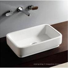 Lavabo de salle de bains en céramique carré chaud vente Art évier