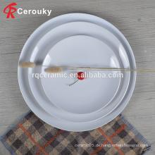Großhandel reine weiße plain Keramik-Catering-Teller für Hochzeit