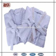 Terry de algodón y patrón de algodón Albornoz con capucha Hotel Terry Cloth Albornoz