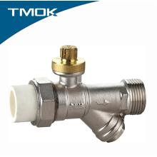 Válvula de bola de PPR de latón bloqueable de 1 pulgada con filtro y ventaja competitiva en valvula TMOK