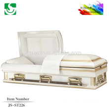 JS-ST226 trade assurance supplier reasonable price steel metal casket black knight