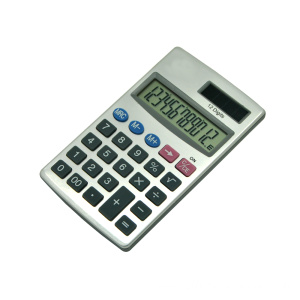 12 Digits Dual Power Pocket Alumium Calculator
