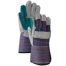 Natural Cow Split Leather Work Welding Gloves With Reinforced Palm