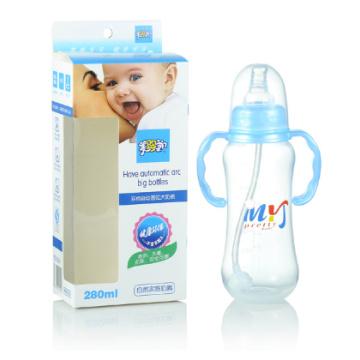 Botella de alimentación del frasco del vacío de los PP 10oz Botellas de leche del bebé del adulto mezclan colores