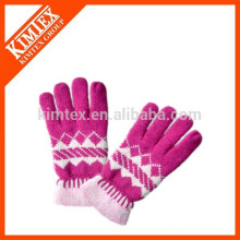 Fashion winter jacquard knit gloves
