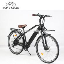 Novo design e bicicleta bicicleta de estrada de cidade elétrica potência verde 250 W 500 W 750 W Vintage ebicycle