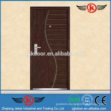 JK-A9018 Piel de puerta de chapa de madera de acero fuerte clásico