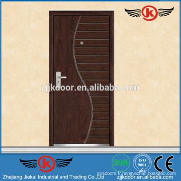 JK-A9018 Peinture de porte en bois massif en acier doux