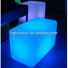 RGB Color changeing led cube bench furniture sale