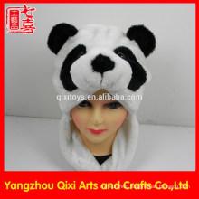 Best selling plush animal head hat cute panda hat kids animal hat