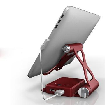 10400mA Портативное мобильное зарядное устройство для мобильных устройств с кронштейном Внешнее мобильное зарядное устройство для резервного аккумулятора