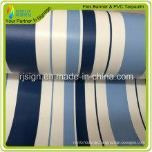 Hochwertige überzogene Streifen-PVC-Plane für Zelt-Turck-Abdeckungen PVC-Plane