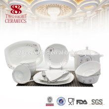 Chaozhou jantar mais recente definido com design popular 72 pcs conjunto de jantar de porcelana de osso