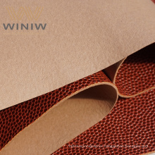 Customised Brown  Faux Basketball Leather Fabric   For Basketball