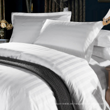 Hochwertige preiswertere 100% Baumwolle 3cm Streifen-Hotel-Bettwäsche-Sätze