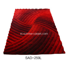 Polyester 150D Silk Shaggy 3D Carpet