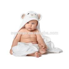 Toalha com capuz de bebê de bambu orgânico macio com design exclusivo, toalhas de bebê antibacterianas e hipoalergênicas premium