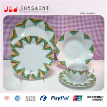 Placas de jantar de porcelana estilística de arte para restaurante